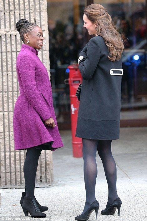 Meeting and greeting: Kate met up with Chirlane McCray, the wife of the Mayor of New York ...