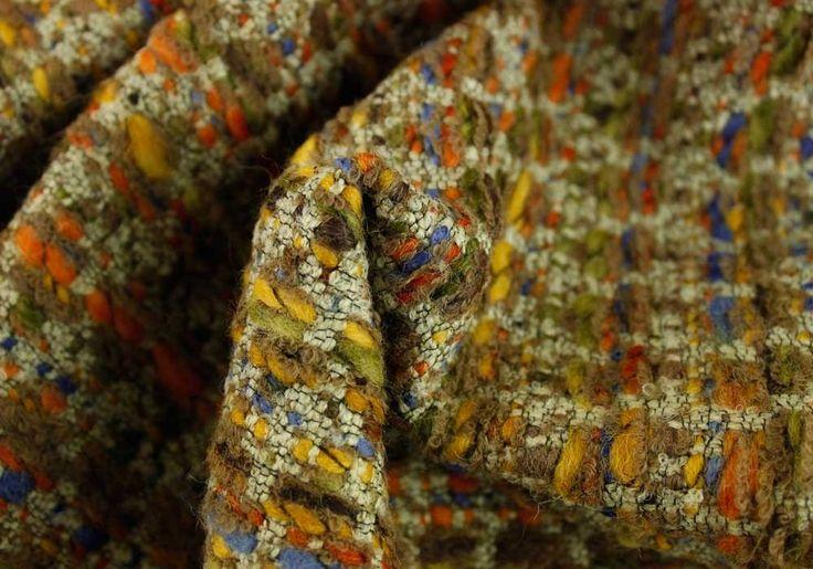 Wool Fabric, Crème Caramel Bouclé | Britex Fabrics