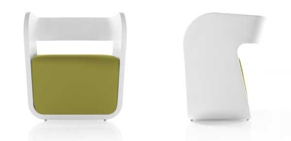 Cube-inspired Alma armchair: Alma Armchairs, Cubes Inspiration Alma