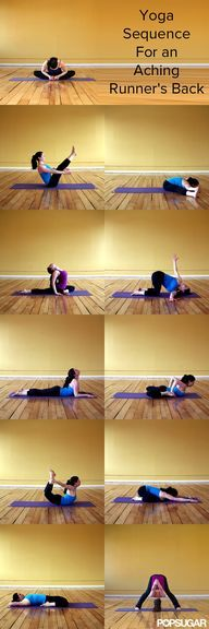 Yoga Sequence For an Aching Runners Back - If you run, its not unusual to experience back pain at some point. This pain can be caused by tense upper back muscle