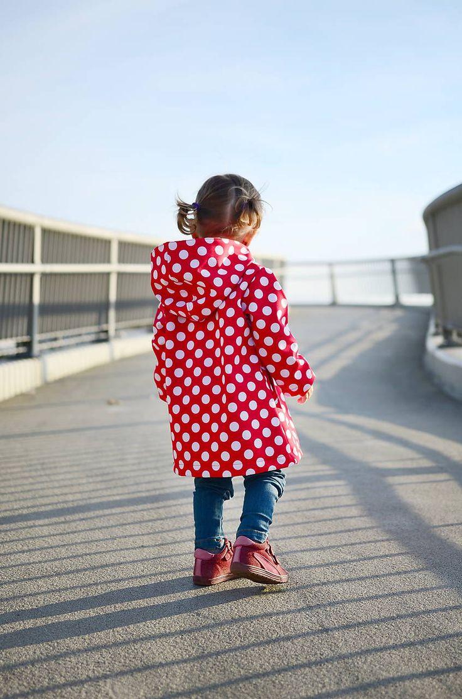 Detské oblečenie - Softshellový kabátik červený s bielymi bodkami - 7190268_