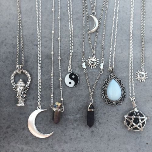 Grunge Accessories Jewellery, Fashion Style, Necklaces Grunge Boho Gypsy, Hipster Indie, Jewelry Accessories, Blackmoon Jewels, Hipster Grunge Indie Style, ...