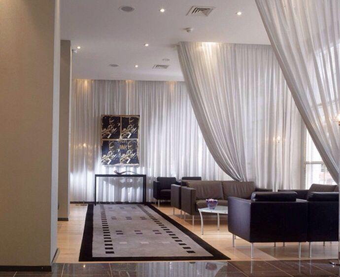 Sheer curtain room divider decor house ideas pinterest - Hanging room divider curtains ...
