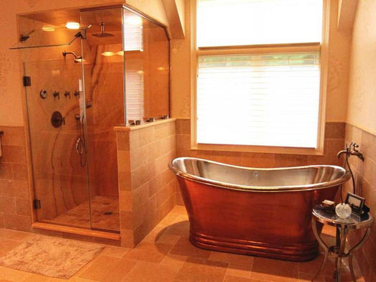 Orange Bathroom Paint Ideas With Stainless Bathtub