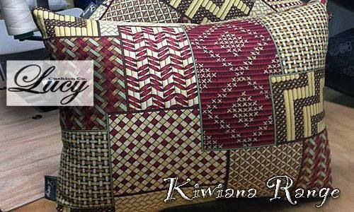 Maori design fabric cushions by Lucy