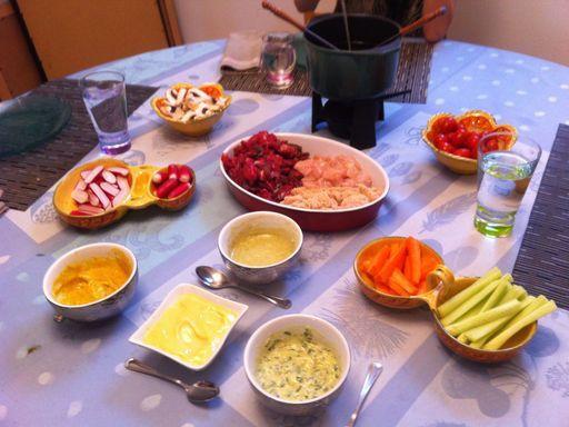 Sauce pour fondue bourguignonne recette fondue et sauces - Recette de cuisine marmiton ...