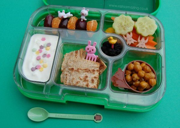 """Some of Hall's incredible lunches carry themes based on holidays, animals and books, while others are simply adorable on their own. When packing the lunches, she says she follows a simple formula to ensure each one is healthy and balanced. """"I choose at least one thing from each of the following categories: vegetables, fruit, protein, carbohydrate and dairy, to include in each lunch,"""" she says. """"I keep a list of food ideas on my fridge that I can refer to if I get stuck for inspiration."""""""