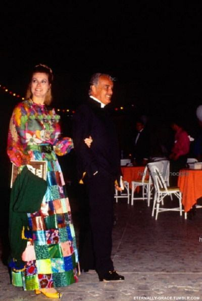 Princess Grace of Monaco with husband Prince Rainier at gipsy party led by Jose de la Vega during charity gala for SPA (society for the prevention of cruelty to animals) at the Beach hotel in Monte Carlo july 27, 1970