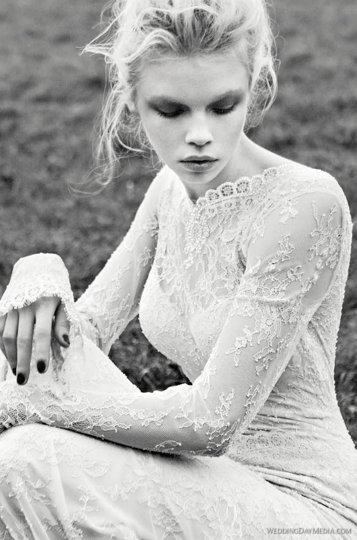 #wedding #dress #sleeves #lace #interesting #fashion #long