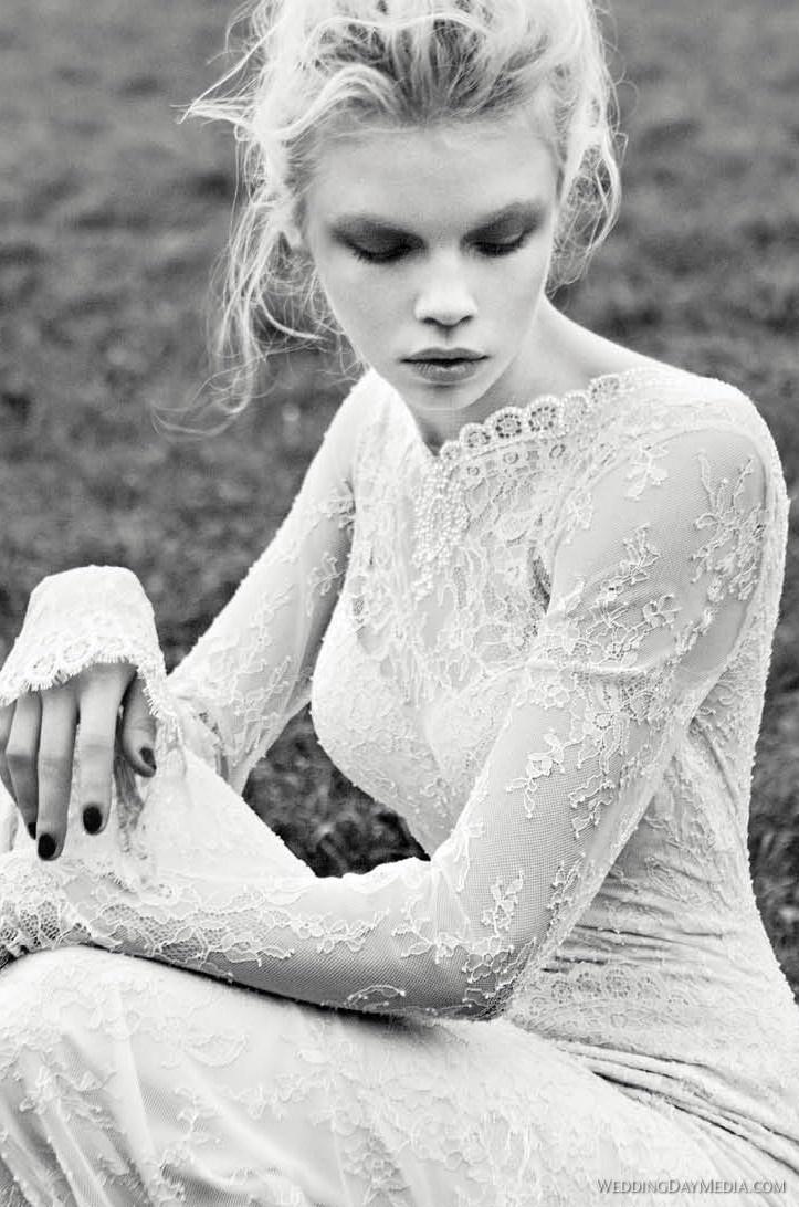 #wedding #dress #sleeves #lace #interesting #fashion #long