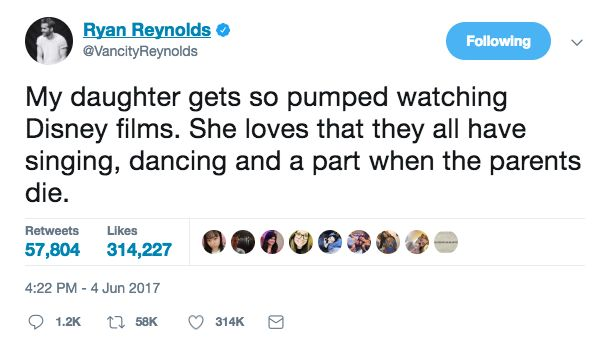 No one is better at Twitter Parenting that Ryan Reynolds. Click through for more!