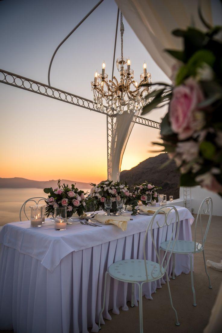 Romantic dinner! #wedding #party #dinner #table #decoration #happiness #gazebo #chandelier #sunset #wedding planner