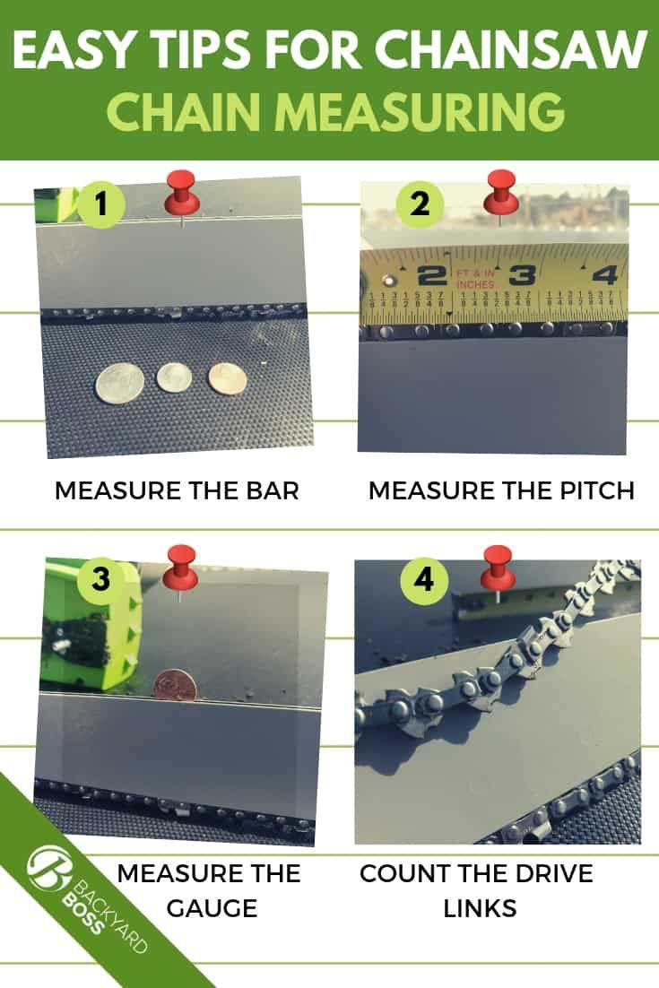 Easy Tips For Chainsaw Chain Measuring Chainsaw Chains Chainsaw Backyard Diy Projects