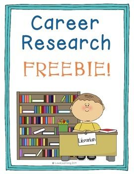 *Freebie* While I teach students a unit on economics, I find it is a perfect time to have them go the computer lab and research a career that interests them.   This sheet includes a website link that students can use to explore a variety of different careers. The sheet then asks them several questions about that career.