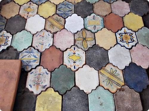 electic tiling...Colours Inspiration, Dreams Kitchens, Italian Floors Tile, Italian Renaissance, Terracotta Tile Kitchens, Terracotta Floors Kitchens, Ceramics Tile Floors, Dreams House, Floortiles Ideas