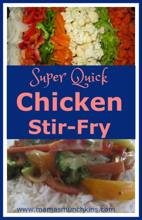 want a meal that is quick and easy to put together? Try this chicken stir-fry! ready in less than 30 minutes!!