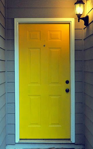 This shot pretty much matches the color of our house and the way our door is & 174 best Yellow Doors and Shutters images on Pinterest | Yellow ... pezcame.com