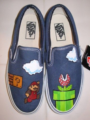 custom vans with old mario brothers graphics: Sweet, Brother Shoes, Awesome, Oth Shoes, Brother Graphics, Mario Vans, Mario Brother, Mario Bros, Custom Vans