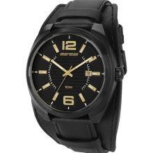 Relógio Mormaii Masculino Couro Preto MO2035AS/3P