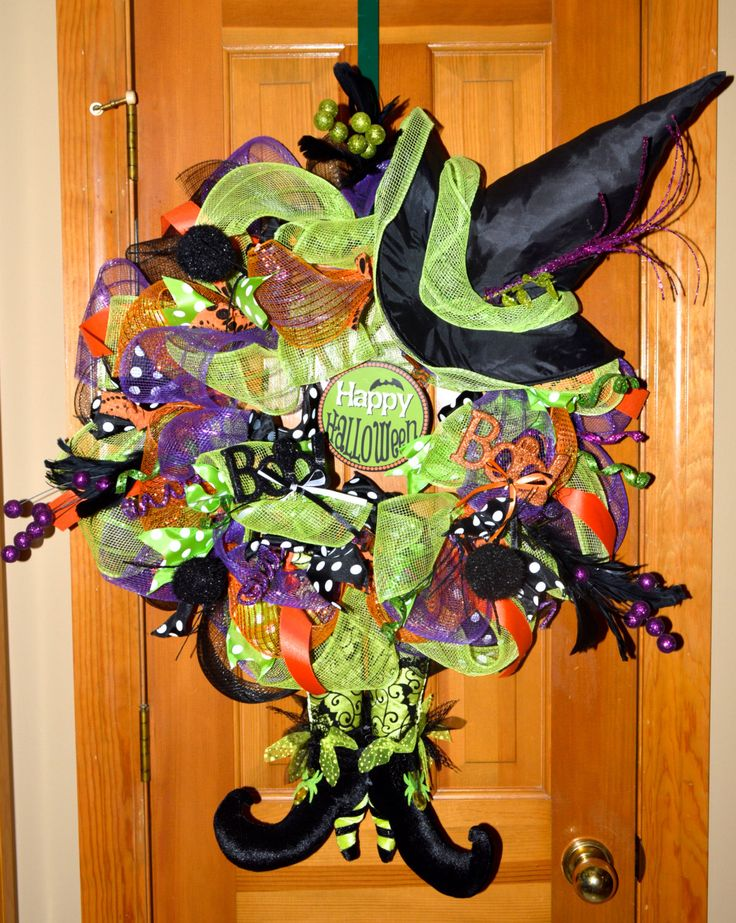 amazing deco mesh halloween witch wreath deco mesh wreath halloween wreath - Deco Mesh Halloween Garland