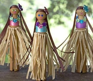 Aloha Hula Girls | AllFreeKidsCrafts.com