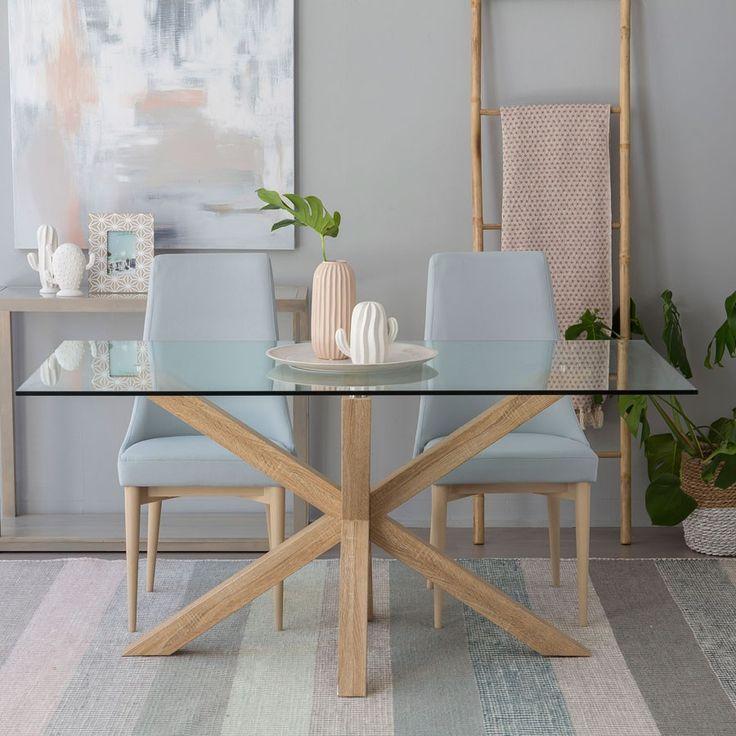 Cross mesa cristal-natural sillas