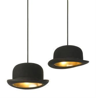 Magritte bowler hat lighting #steampunk