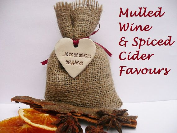 10 x Mulled Wine or Cider Wedding Favours  Hessian by RaggedHome, £22.00