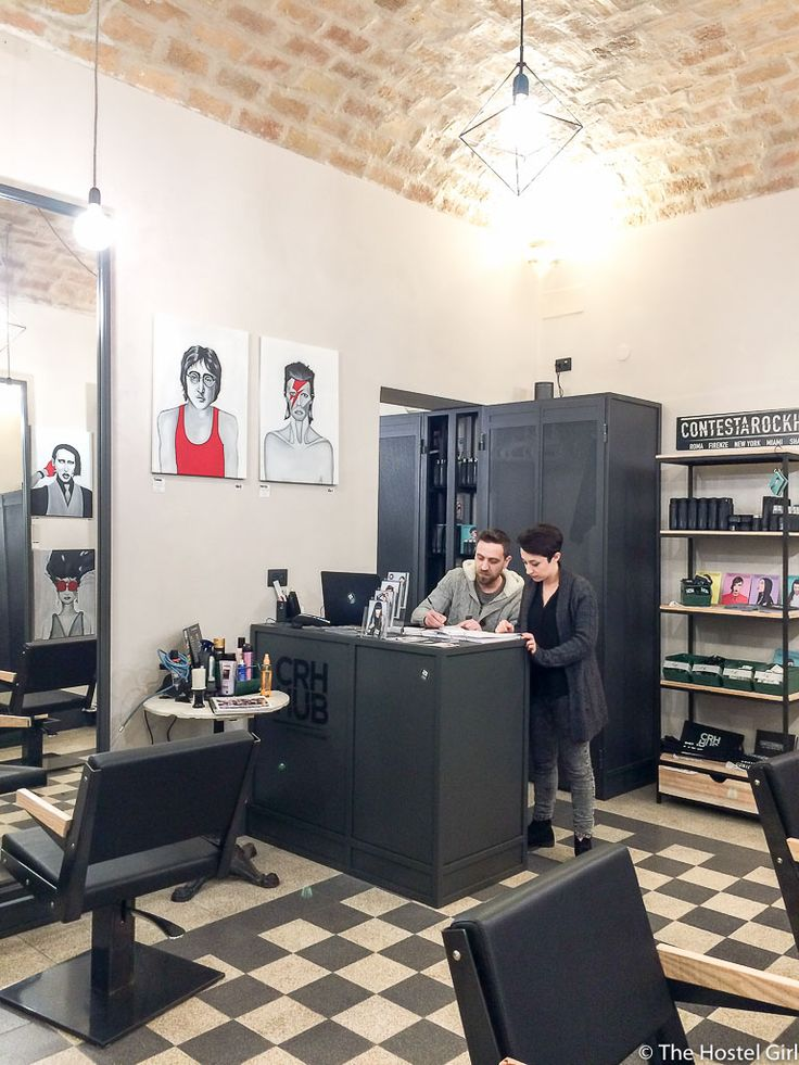 Trend A Hostel with a Hair Salon Introducing ContestaRockHair salon at The Yellow Rome These