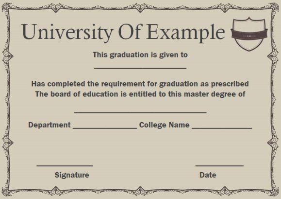 Masters degree certificate #masterdegree Master of Business