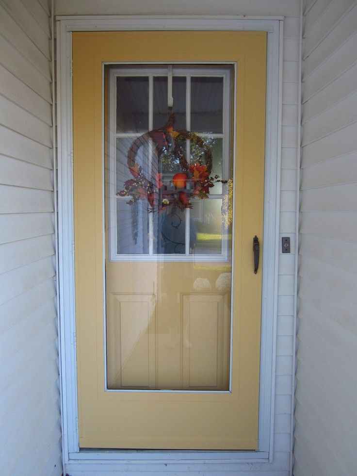 17 best ideas about painted storm door on pinterest red for Front door with storm door