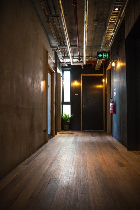 Unfinished timber floorboards are used throughout The Commons (Photo: Nick Lavars/Gizmag.com)