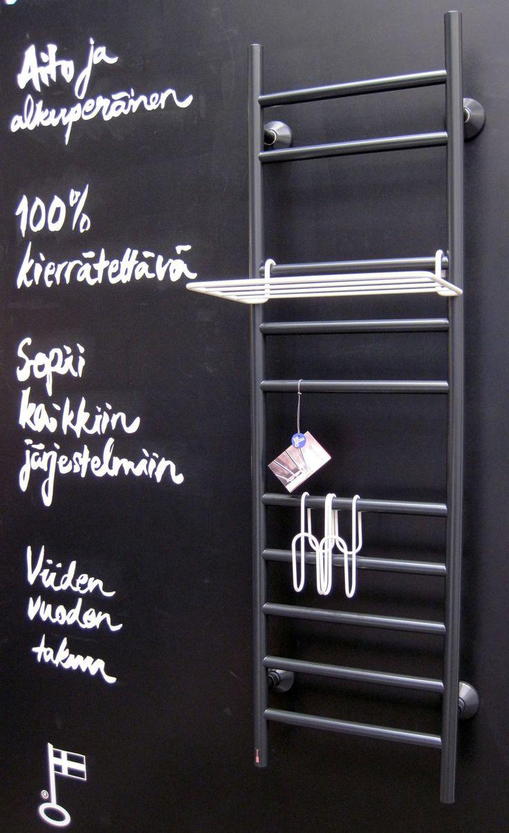Habitare 2013. Rej Design sähkö- ja vesitoimiset pyyhekuivaimet - Rej Design wall rack for towels. Saatavilla/Available in: http://www.taloon.com/ds/hakutulokset?q=Rej+Design