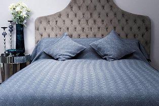 Покрывало на двуспальную кровать 240х260 синее Papillon II