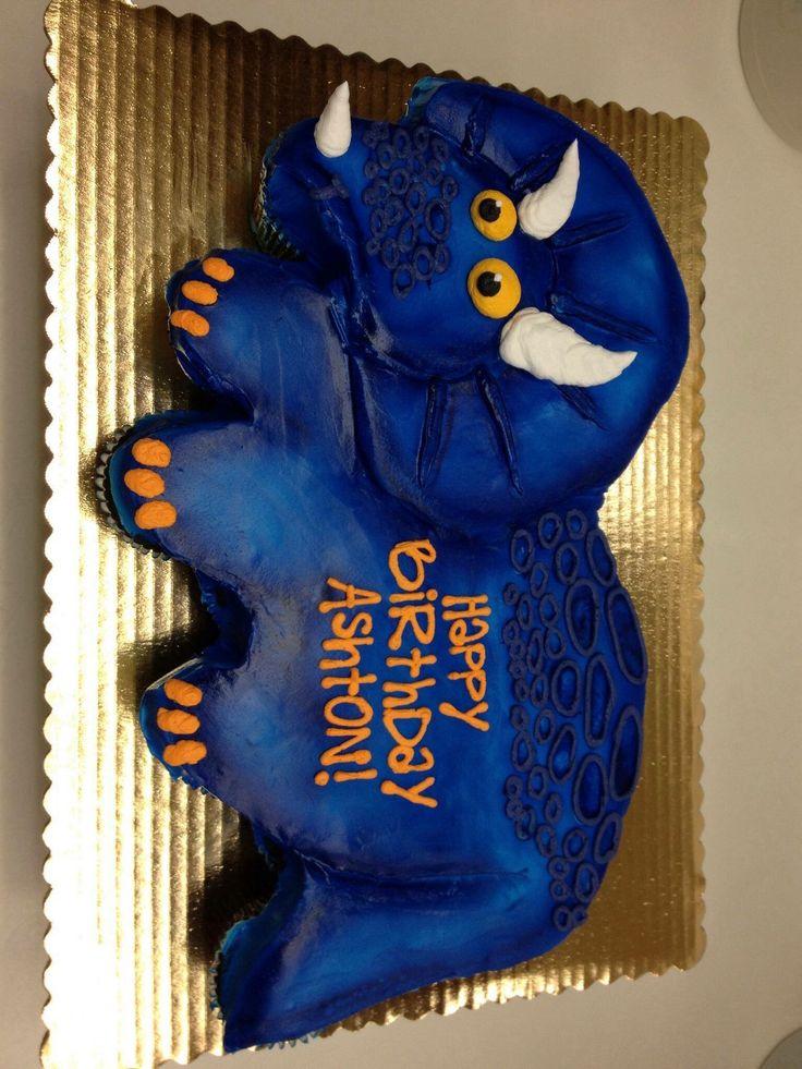 Best 25 Dinosaur Cupcake Cake Ideas On Pinterest