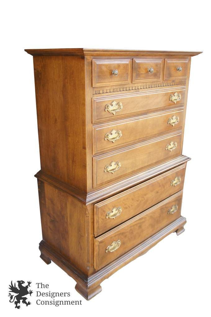 Ethan Allen Classic Manor Highboy Chest of