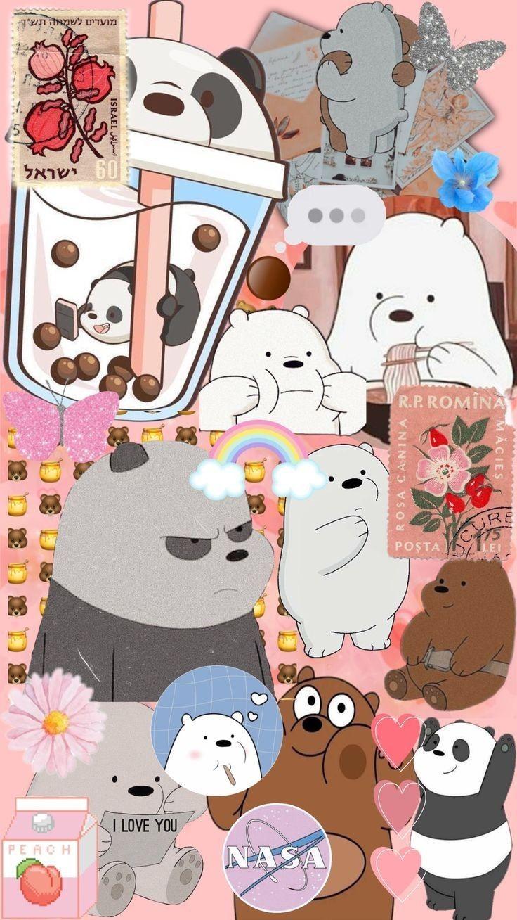 خلفيات الدبه الثلاث Cute Panda Wallpaper Bear Wallpaper We Bare Bears Wallpapers