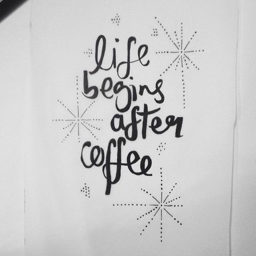 Life begins after coffee // #typography #handdrawntypography #illustratedtypography #handdrawn #handlettering #moderndaymonk #lettering #cof...