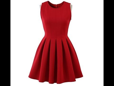 Платье полусолнце своими руками как сшить без выкройки, часть 1 - YouTube