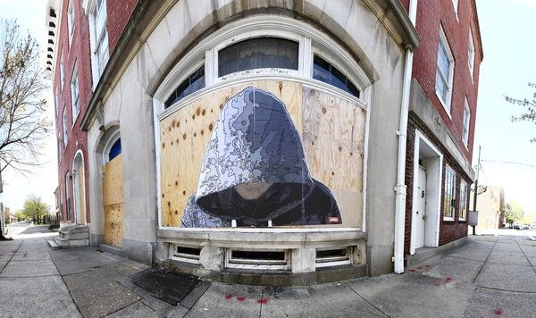 Trayvon Martin by Justin Nether in Baltimore (Handout photo)Street Artists, Street Artisttrayvon, Martin Inspiration, Artists Justin, Trayvonmartin, Artisttrayvon Martin, Baltimore Street, Justin Nether, Streetart