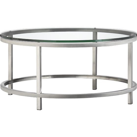 era round coffee table in coffee tables u0026 side tables crate and barrel