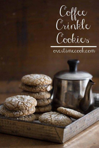 Coffee Crinkle Cookies