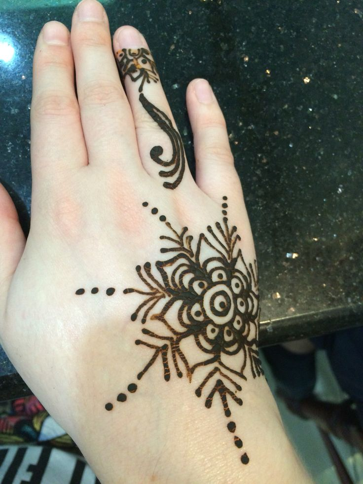 Henna hand tattoo done in Little India