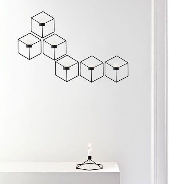 Nástěnný svícen na čajovou svíčku POV od Menu, černý   DesignVille