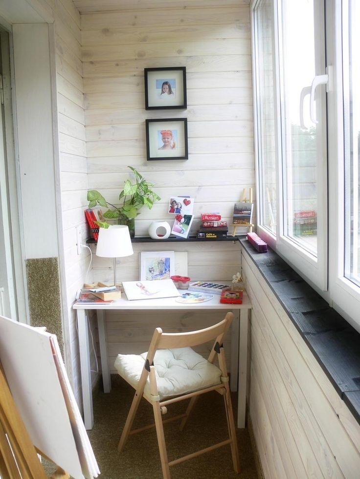 Фотография: Прочее в стиле , Балкон, Интерьер комнат, Ремонт, специальная тема: балконы, интерьер балкона, переделка балкона, олеся митрошина, открытая гардеробная, студия для рисования, комната для рисования, декорирование балкона – фото на InMyRoom.ru