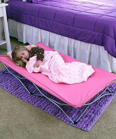 Loving this Pink My Cot Portable Toddler Bed on #zulily! #zulilyfinds
