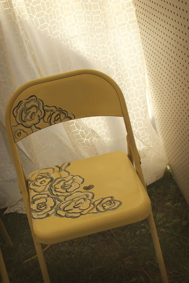 Best 25 Painted Folding Chairs Ideas On Pinterest