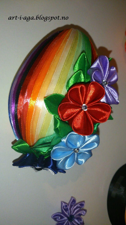 egg, ribbon, Spring, DIY, hand made