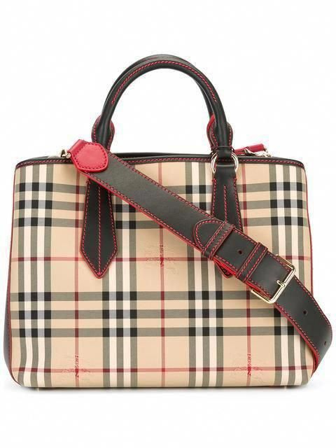 462efc64267a BURBERRY house check tote.  burberry  bags  leather  hand bags  polyester   tote    Burberryhandbags