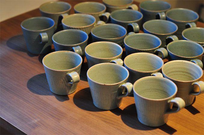 カフェのカップがうつわ陶陶斉さんに